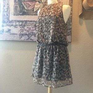 H&M Floral Sleeveless Fully Lined Dress 12
